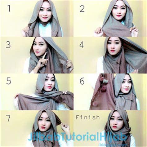 tutorial jilbab pashmina satin untuk wisuda 25 tutorial hijab pashmina wisuda terbaru 2017