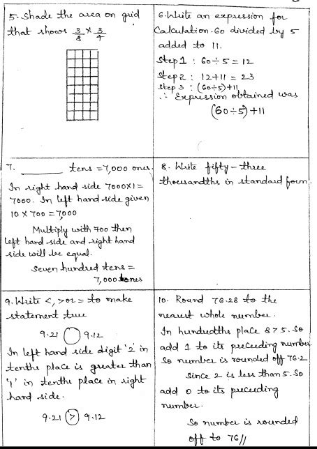 Math 4 Today Grade 5 Worksheets by Common Math 4 Today Grade 5 Solutions Week 12