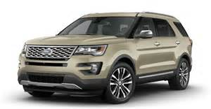 Ford Explorer Colors 2017 Ford Explorer Exterior Color Options