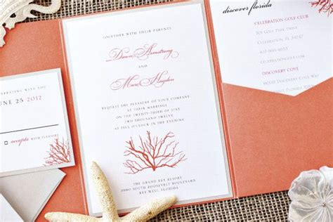 Wedding Invitation Suite Packages by Coral Destination Wedding Invitation Suite Package
