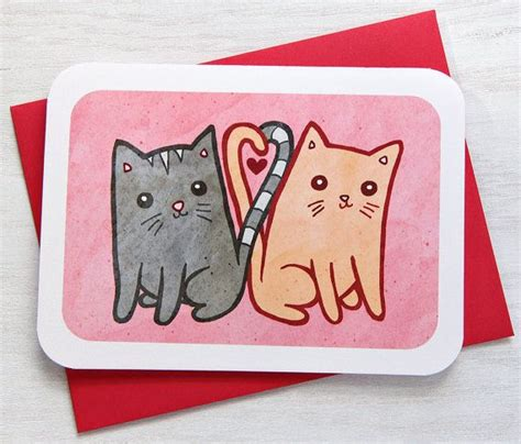 cat valentines card kitties in anniversary card card friend