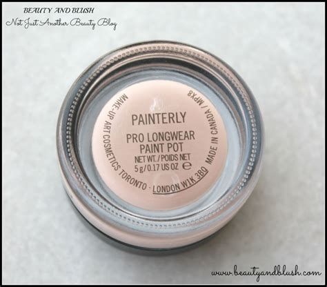 paint in mac mac pro longwear paint pot in painterly review and swatches and blush