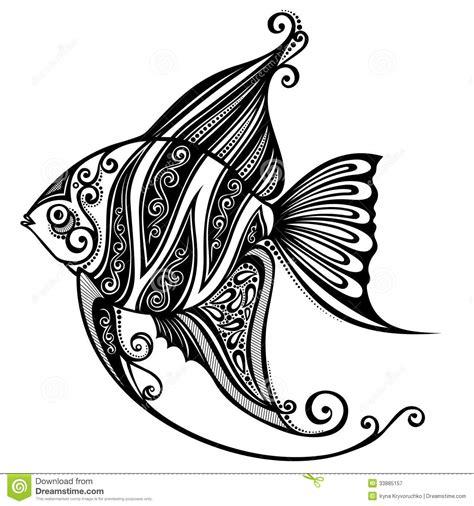 Sea Fish Stock Vector Illustration Of Scroll Ornaments Fish Designs