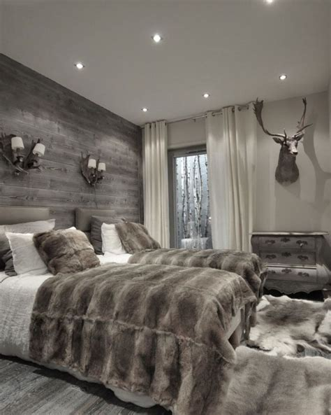 Bedroom With Grey Curtains Decor Best 25 Ski Chalet Decor Ideas On Rustic Cabin Decor Lodge Decor And Ski Lodge Decor