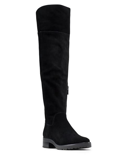 michael michael kors whitaker sherpa lined suede knee high