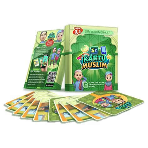 Oem Kartu Muslim Seri Shalat kartu muslim 3d 3d card muslim teesline