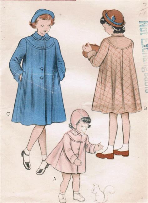 vintage pattern butterick 1950s butterick 6027 vintage sewing pattern girl s coat