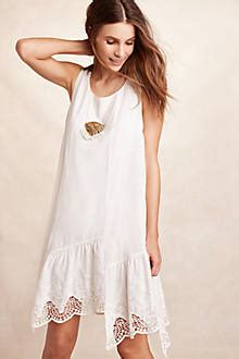 White Dress T17 broderie swing dress