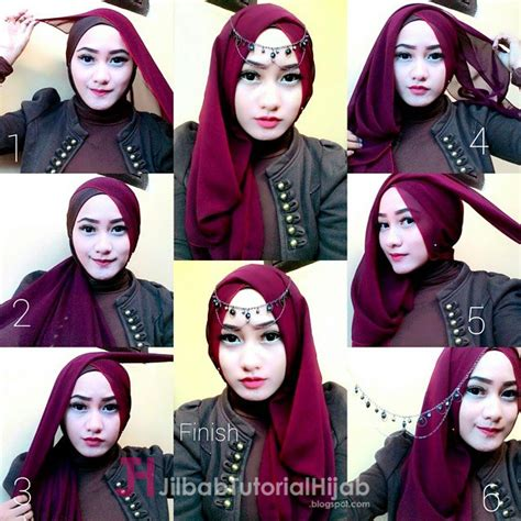 tutorial hijab segi empat edisi lebaran 4 tutorial hijab segi empat untuk lebaran idul fitri