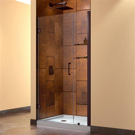36 Glass Shower Door Unidoor 35 To 36 Quot Frameless Hinged Shower Door Clear 3 8 Quot Glass Door Contemporary Shower