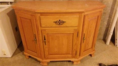 are honey oak cabinets outdated outdated oak storage cabinet buffet makeover hometalk