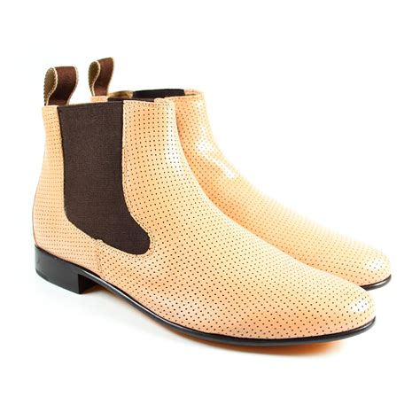 mod shoes 60s chelsea boots 5 paston perfo sand 1 1