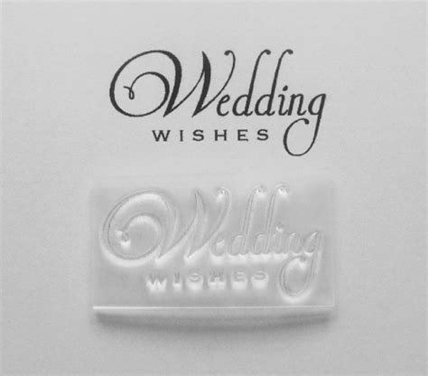 Wedding Wishes Lines by Wedding Wishes 2 Line Clear St