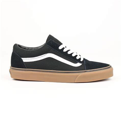 vans shoes skool black gum white ebay