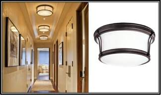 flush mount lights are ideal for narrow hallways