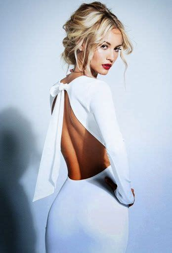 Hairstyles For Open Back Dresses by White Open Back Dress Summer