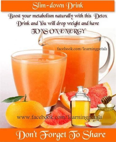 Grapefruit Detox For Weight Loss by 1 Cup Grapefruit Or Orange Juice 2 Tsp Apple Cider Vinegar