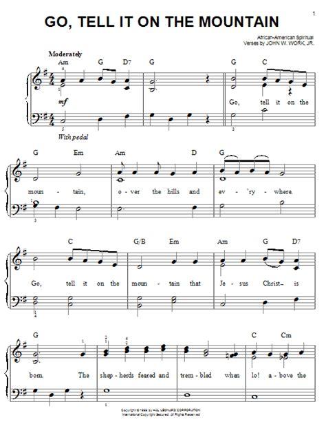 printable lyrics go tell it on the mountain go tell it on the mountain sheet music by african
