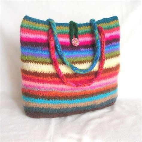 felt handbag pattern crochet bag pattern tutorial pdf rainbow felted bag