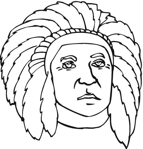 first nation indian coloring page free printable