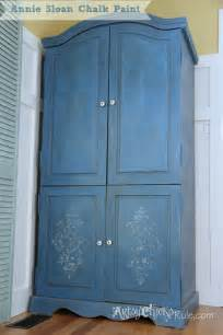 Painted Armoire Ideas Armoire Transformed Finishing Up With Chalk Paint