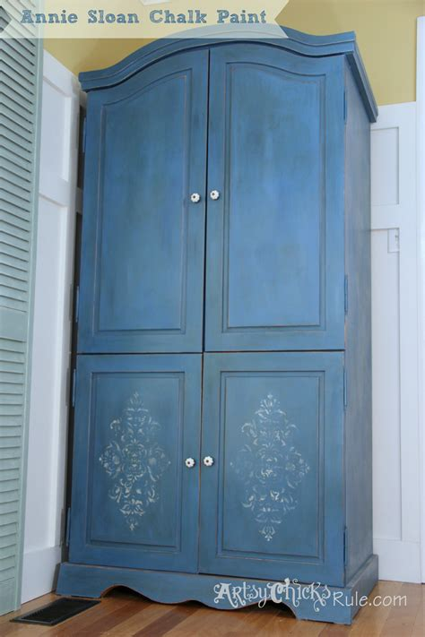 Painted Armoire Images by Armoire Transformed Finishing Up With Chalk Paint