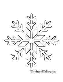 snowflake stencil template printable snowflakes stencils images