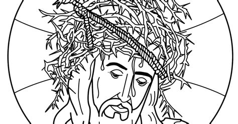 coloring pages jesus crown of thorns 為孩子們的著色頁 jesus christ crown of thorns coloring pages