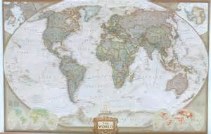 World Map Wall by World Map Wall Murals