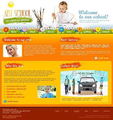 Art School Website Template Best Website Templates Best Web Templates For Artists