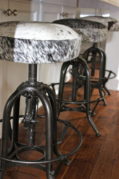 Real Cowhide Bar Stools by Cowhide Bar Stools Really Western
