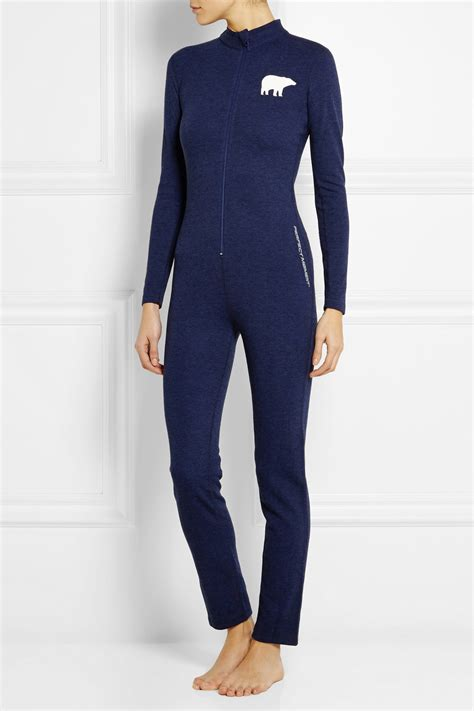 knitted jumpsuit moment knitted jumpsuit in blue lyst
