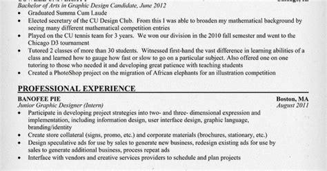 Sle Resume Entry Level Graphic Designer entry level graphic designer resume student