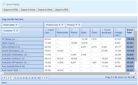 tutorial pivot table pdf powerful pivot table for php koolphp