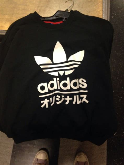shirt adidas japanese writing black sweater sweater japanese adidas adidas