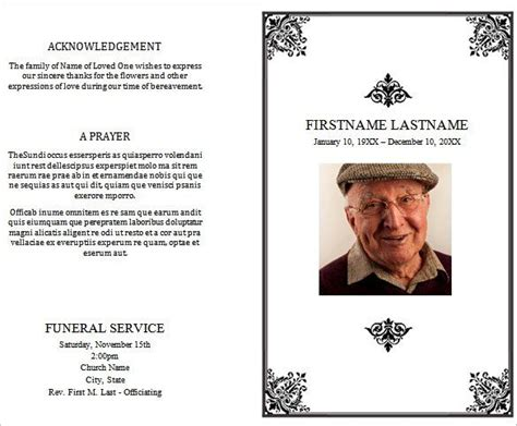31 Funeral Program Templates Free Word Pdf Psd Documents Download Free Premium Free Funeral Program Template For Word 2