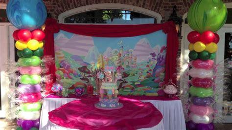 Backyard Birthday Party Ideas candy land birthday party decoration dreamark events
