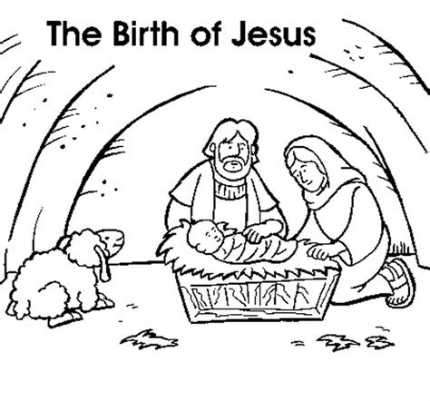 coloring pages jesus birth story jesus is born coloring page coloring home