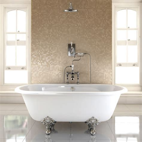Freestanding Baths With Shower Over burlington windsor double ended 1700mm freestanding bath