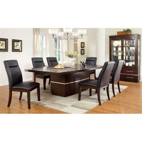 extendable dining sets furniture of america braylin 7 piece extendable led dining