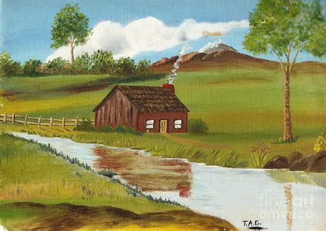 green grass of home painting by and gault