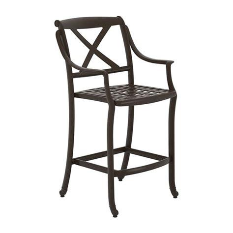 bar stool aluminum belmar cast aluminum framed bar stool neo classic quot x