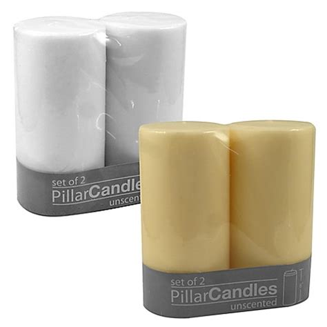 bed bath and beyond candles unscented pillar candles bed bath beyond