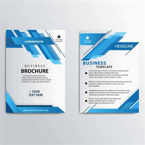 free corporate brochure templates blue stripes business brochure template vector free