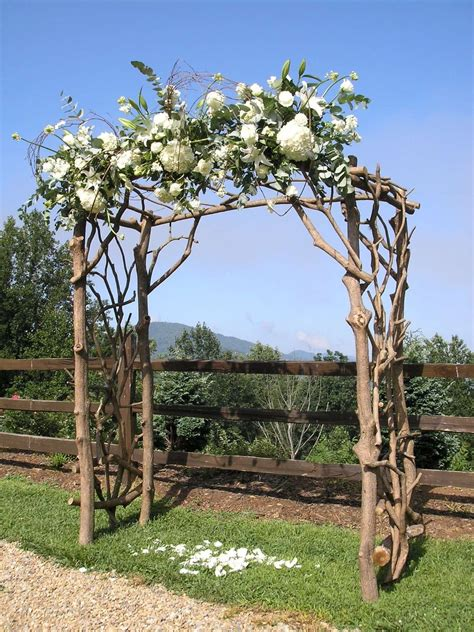Outdoor Wedding Arbor by Custom Rhododendron Wedding Arbor By Rhodo Creations