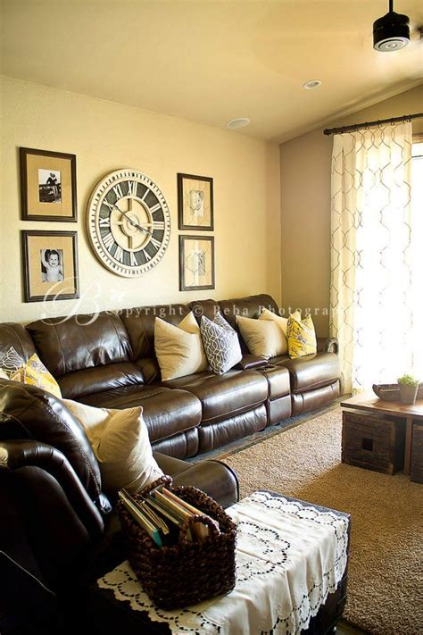pretty wall color with tan couch f a m i l y r o o m chocolate brown sofa yellow collection 12 wallpapers