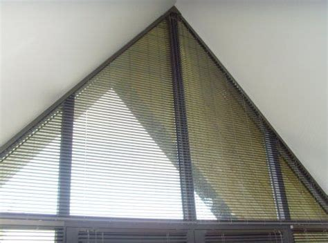 triangle window coverings triangular windows for drapes grand design shaped