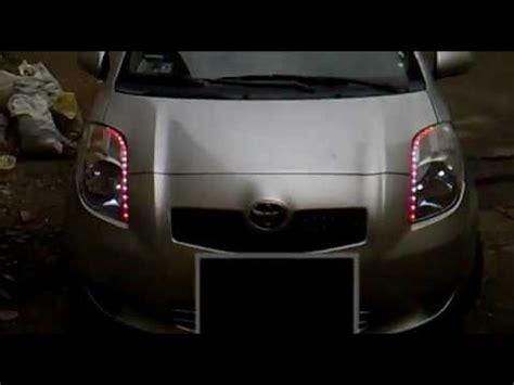toyota yaris led lights youtube