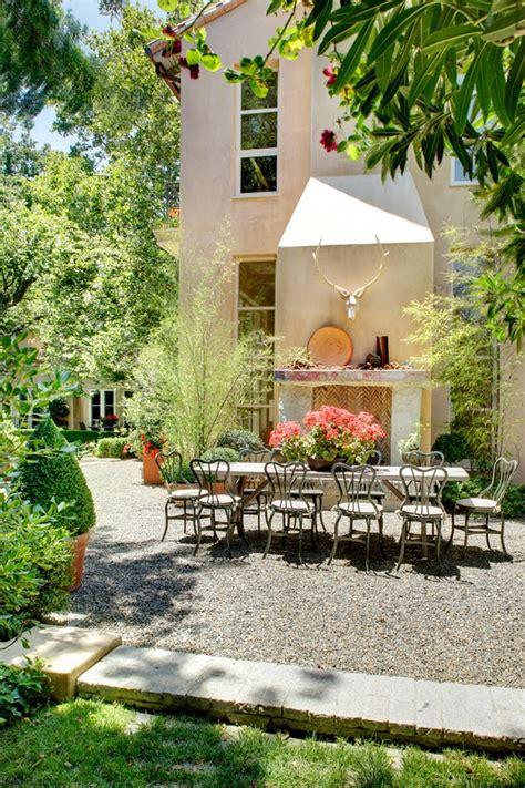 patio landscape design cost effective pea gravel patio