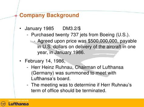 Mba From Germany Value by Lufthansa Study Presentation Mba